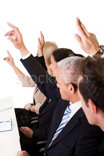 Działalności wykład ręce powietrza biuro Zdjęcia stock © AndreyPopov