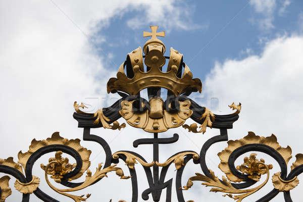 подробность форме замок ворот Прага Чешская республика Сток-фото © AndreyPopov