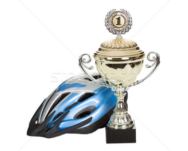 Photo of bicycle helmet Stock photo © AndreyPopov