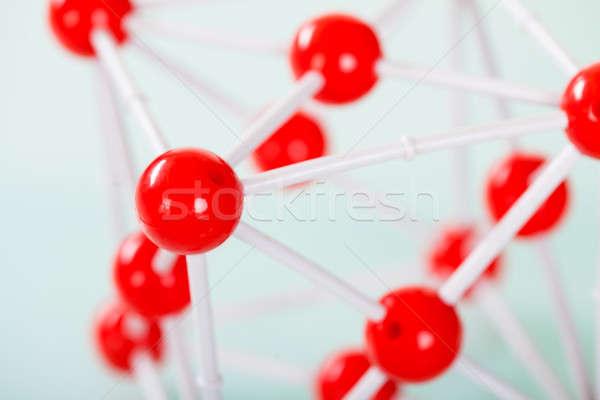 Model koper moleculair structuur groene Stockfoto © AndreyPopov