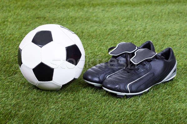 футбола области текстуры фитнес зеленый Сток-фото © AndreyPopov