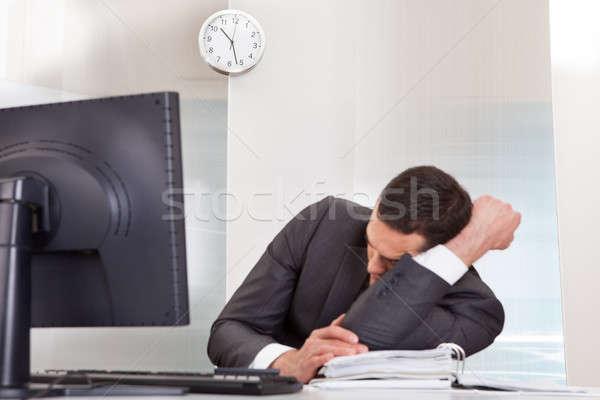 Affaires dormir bureau réussi bureau affaires Photo stock © AndreyPopov