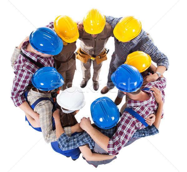 Large group standing in circle Stock photo © AndreyPopov