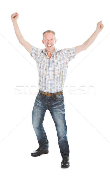 Retrato animado homem maduro mão branco Foto stock © AndreyPopov