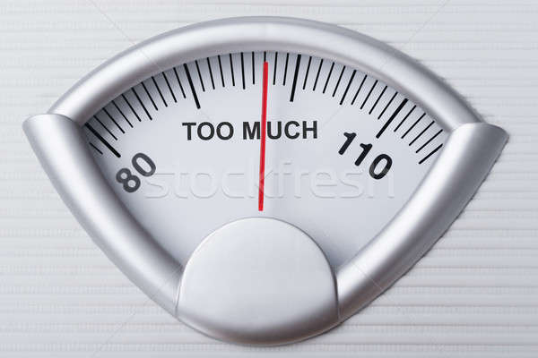 Weight Scale Indicating Too Much Stock photo © AndreyPopov