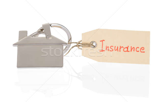 Insurance Tag Tied On House Model Stock photo © AndreyPopov