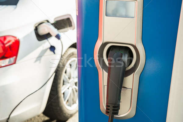 Electric Car Being Recharged Stock photo © AndreyPopov