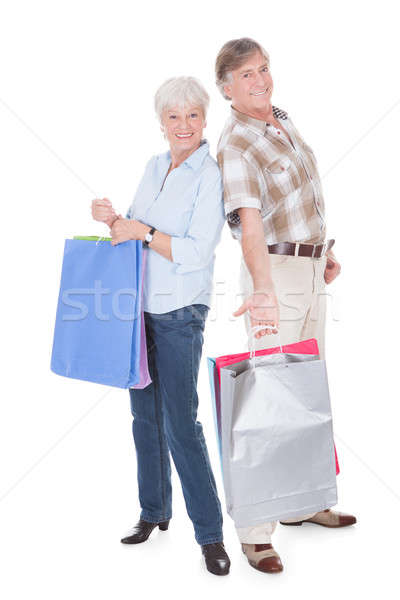Senior Couple With Shopping Bag Stock photo © AndreyPopov