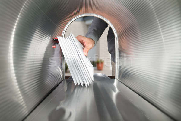Person Hands Taking Letters View From Inside The Mailbox Stock photo © AndreyPopov