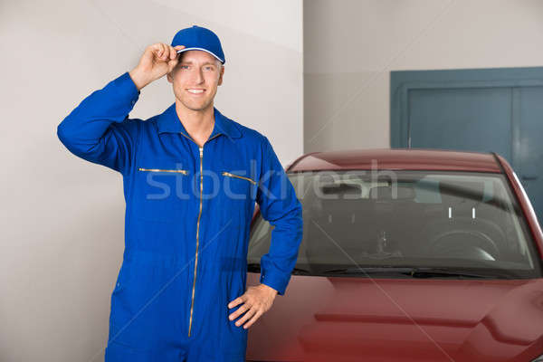 Confident Mechanic In Garage Stock photo © AndreyPopov