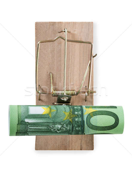 Roulé euros note vue affaires Photo stock © AndreyPopov