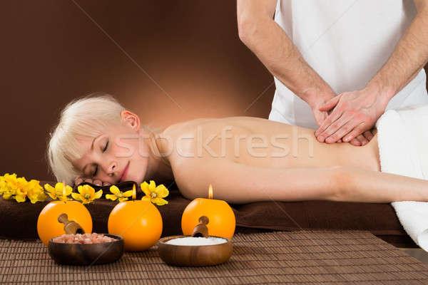 Donna indietro massaggio ritratto Foto d'archivio © AndreyPopov