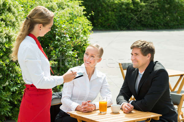 Businesspeople Ordering Food Stock photo © AndreyPopov