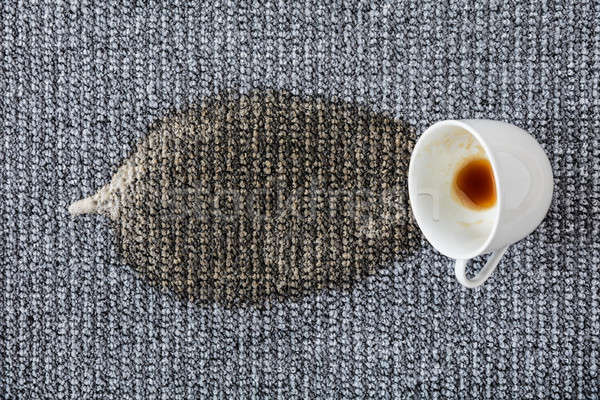 Coffee Cup Spilled On The Carpet Stock photo © AndreyPopov