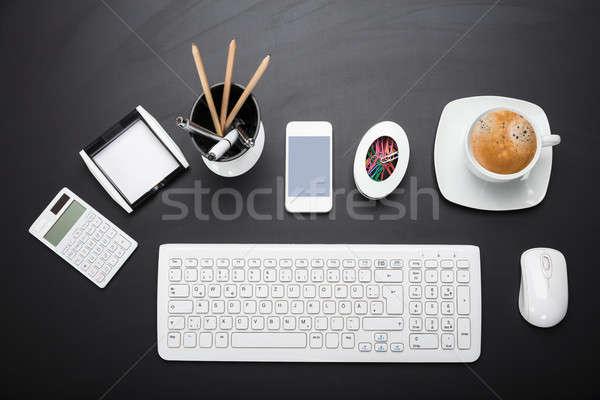 Apparecchiature per ufficio desk view business computer Foto d'archivio © AndreyPopov