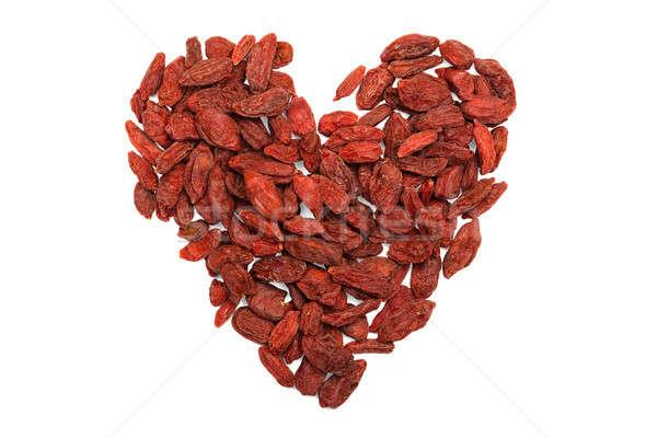 Heart Shape Goji Berries Stock photo © AndreyPopov