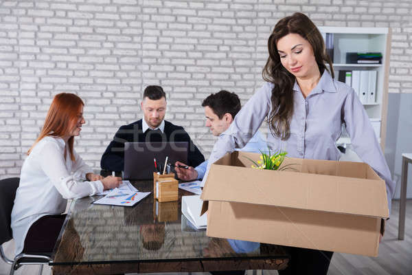 Fired Employee With Belongings Stock photo © AndreyPopov