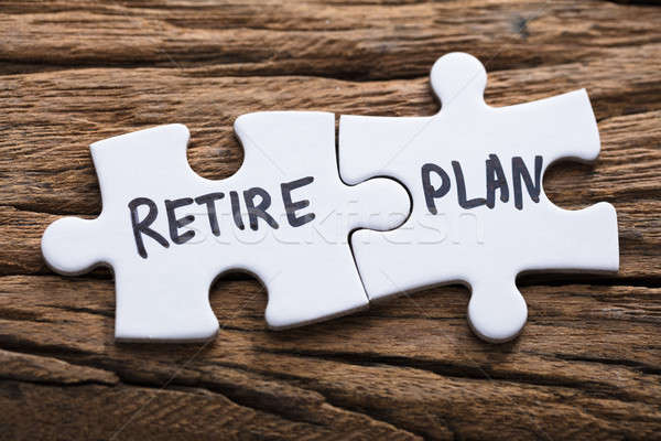 Closeup Of Connected Retire Plan Jigsaw Pieces Stock photo © AndreyPopov