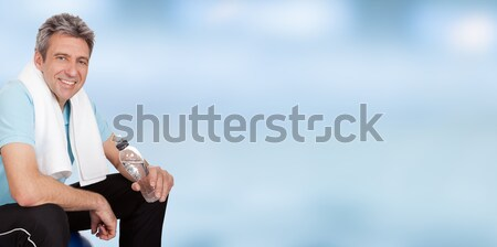 Fitness Man Holding Water Bottle Stock photo © AndreyPopov