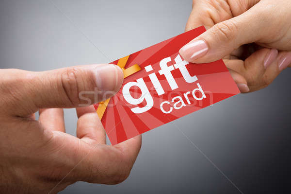 Giving Gift Card Stock photo © AndreyPopov