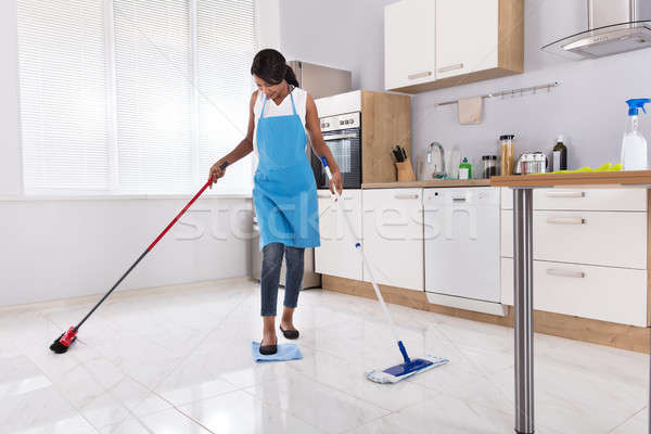 Housewife Doing Multitasking Household Work Stock photo © AndreyPopov