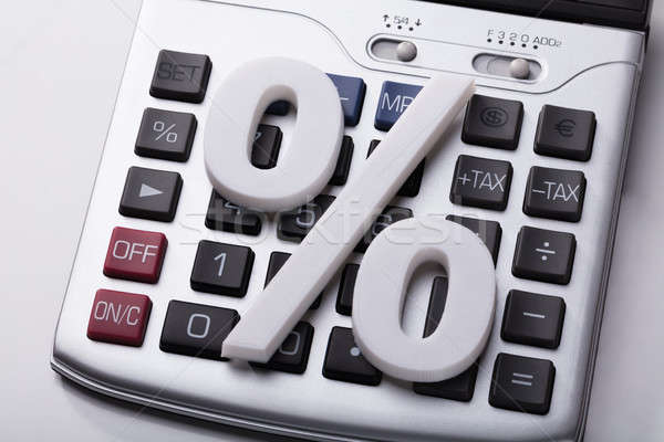 White Percentage Sign On Calculator Stock photo © AndreyPopov