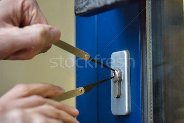 человек открытие дверей стороны Сток-фото © AndreyPopov