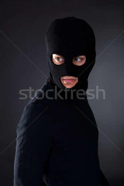 Tolvaj visel mozog sötétség férfi biztonság Stock fotó © AndreyPopov