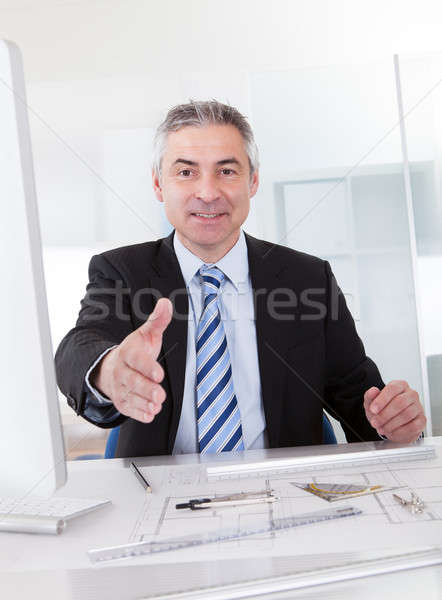 Male Architect Hand Extended To Shake Stock photo © AndreyPopov