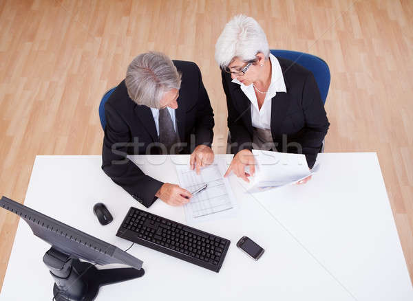 Senior partners at a business meeting Stock photo © AndreyPopov
