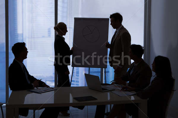 Business People Having Discussion In Conference Room Stock photo © AndreyPopov