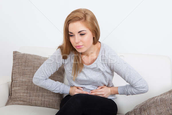 Leiden Magenschmerzen Porträt Schmerzen Magen Stock foto © AndreyPopov