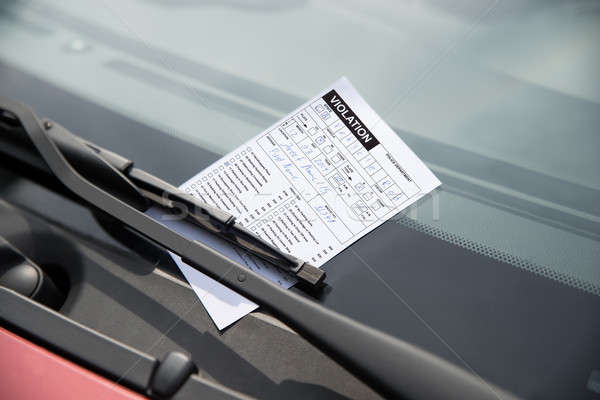 Parking Ticket On Car Stock photo © AndreyPopov