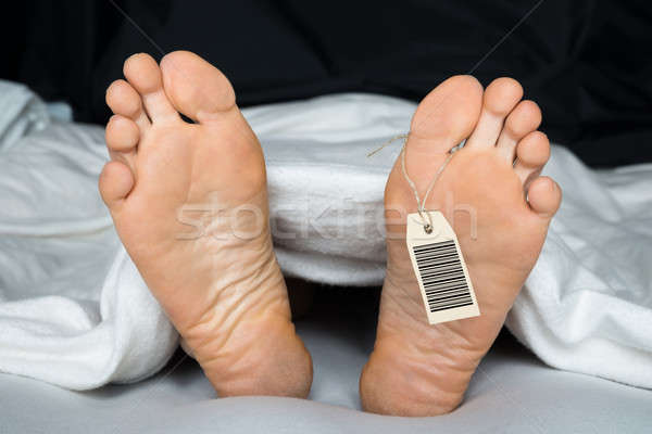 Person's Foot With Toe Tag Stock photo © AndreyPopov