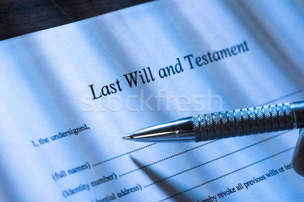 Person Writing Last Will and Testament Stock photo © AndreyPopov