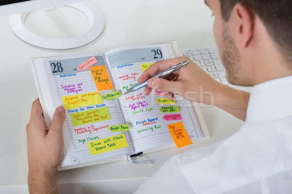 ビジネスパーソン 見える リスト 事務 クローズアップ 日記 ストックフォト © AndreyPopov