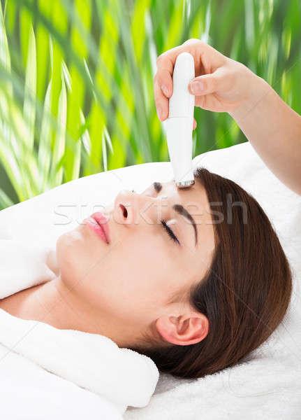 женщину терапии лоб стороны Сток-фото © AndreyPopov