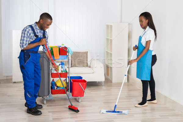 Janitors Cleaning Apartment Stock photo © AndreyPopov