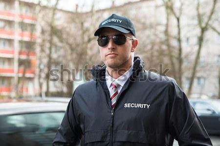 Mannelijke permanente straat portret Stockfoto © AndreyPopov