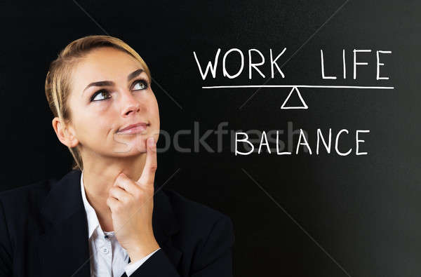 Businesswoman Thinking About Balancing Work Life Stock photo © AndreyPopov