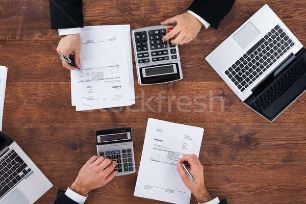 Dois financeiro orçamento ver Foto stock © AndreyPopov