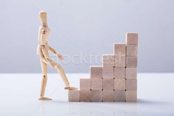 вид сбоку Рисунок скалолазания лестница белый Сток-фото © AndreyPopov