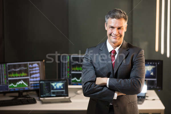 Portrait Of A Male Stock Market Broker Stock photo © AndreyPopov