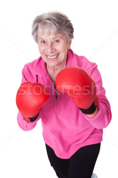 Portrait Of Senior Female Boxer Stock photo © AndreyPopov