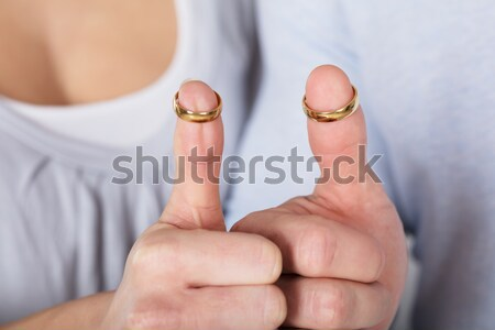 Close up of hand holding tampon Stock photo © AndreyPopov