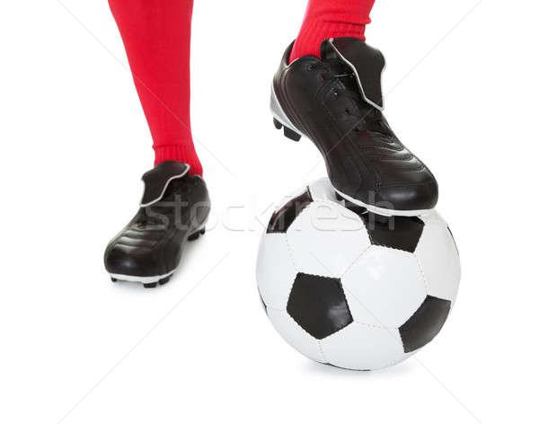 Portrait of soccer player Stock photo © AndreyPopov