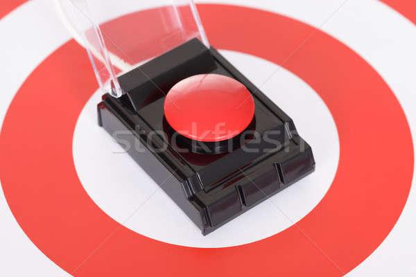 Rood knop target cirkels Stockfoto © AndreyPopov
