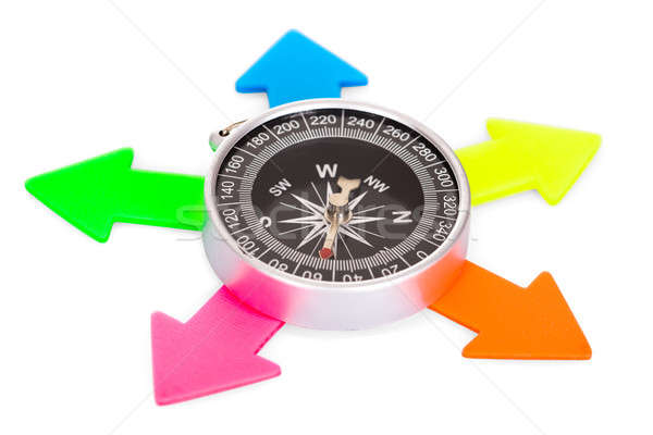 Compass With Multicolored Arrow Stock photo © AndreyPopov