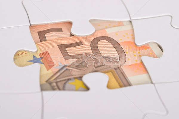 Foto stock: Euro · escondido · cinqüenta