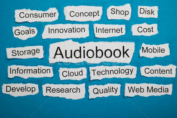 Word Audiobook On Piece Of Torn Paper Stock photo © AndreyPopov